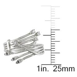 Miadora 14k White Gold Size 6 Diamond Ring - Thumbnail 2