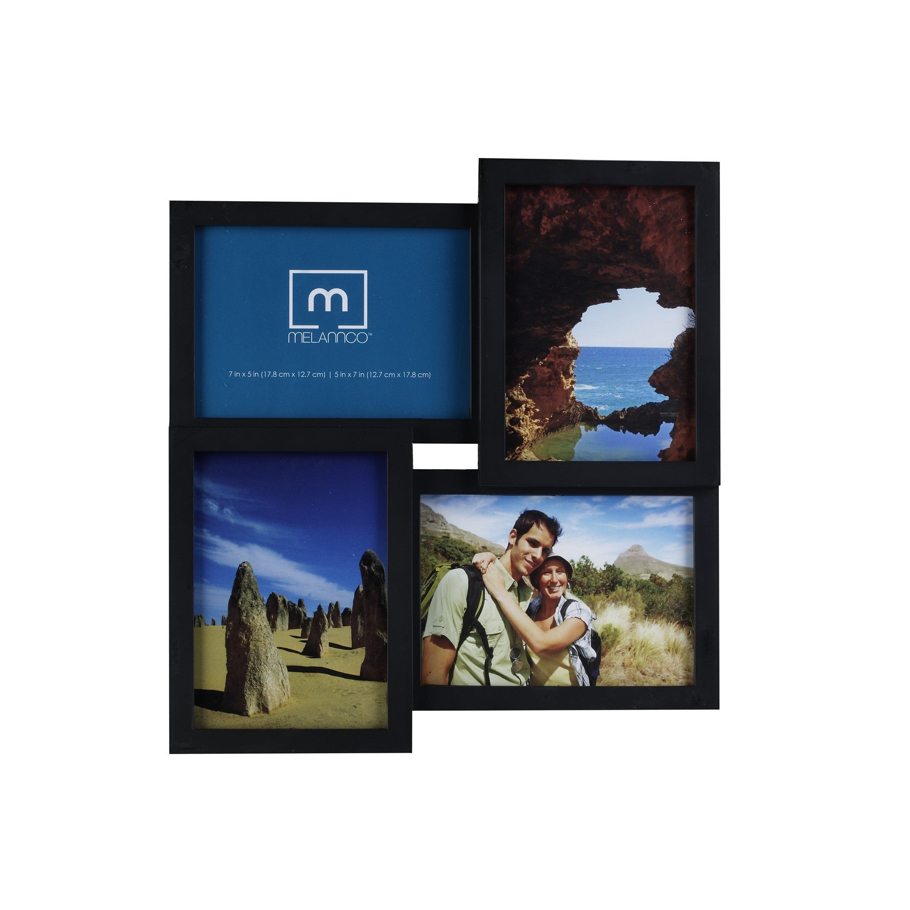 Mellanc 4-Photo Black Collage Frame