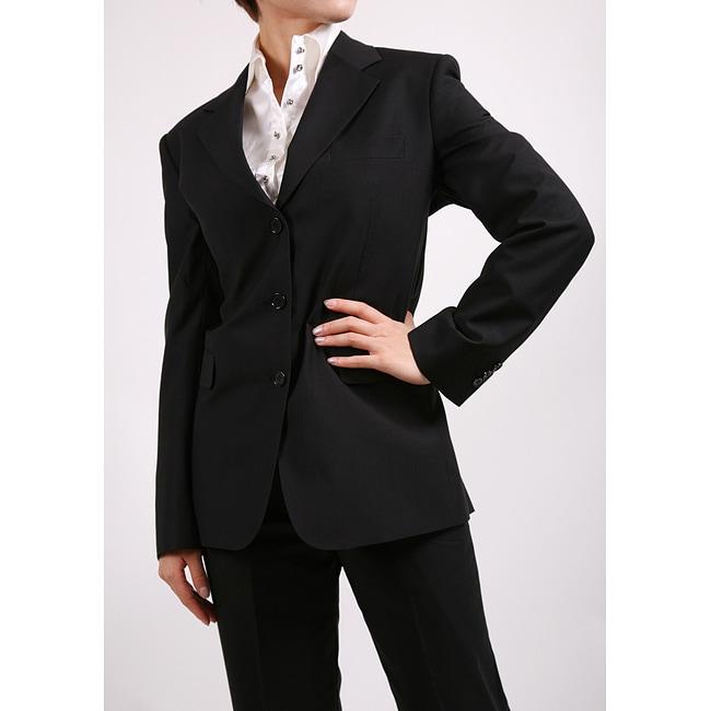 Ferrecci Women's Black Two-piece Suit