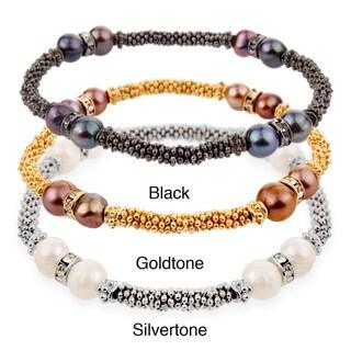 West Coast Jewelry Faux Pearl Beaded Stretch Bracelet