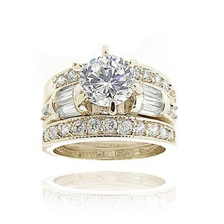 Icz Stonez 3ct TGW Cubic Zirconia Bridal Engagement Ring Set (More options available)