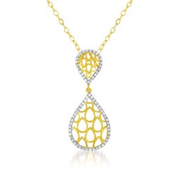 Collette Z Cubic Zirconia Tear-drop Shaped Pendant
