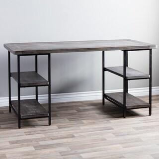 Renate Reclaimed Wood and Metal Office Desk