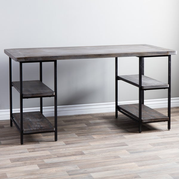 renate reclaimed wood and metal office desk - free shipping today