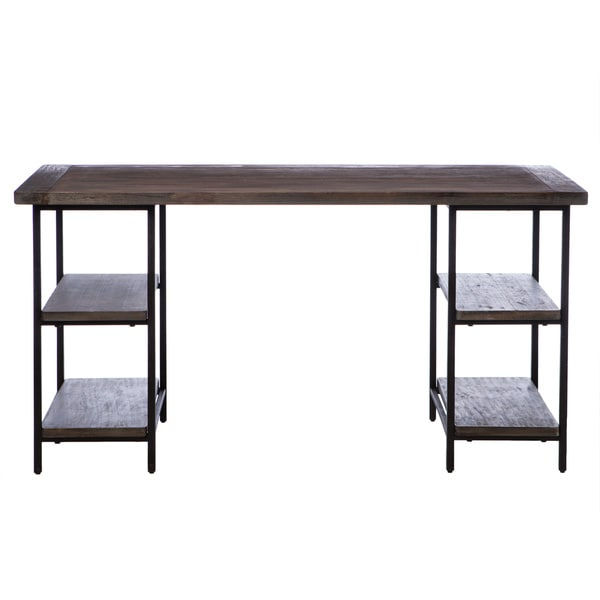 Lovely Renate Reclaimed Wood And Metal Office Desk   Free Shipping Today    Overstock.com   13996331