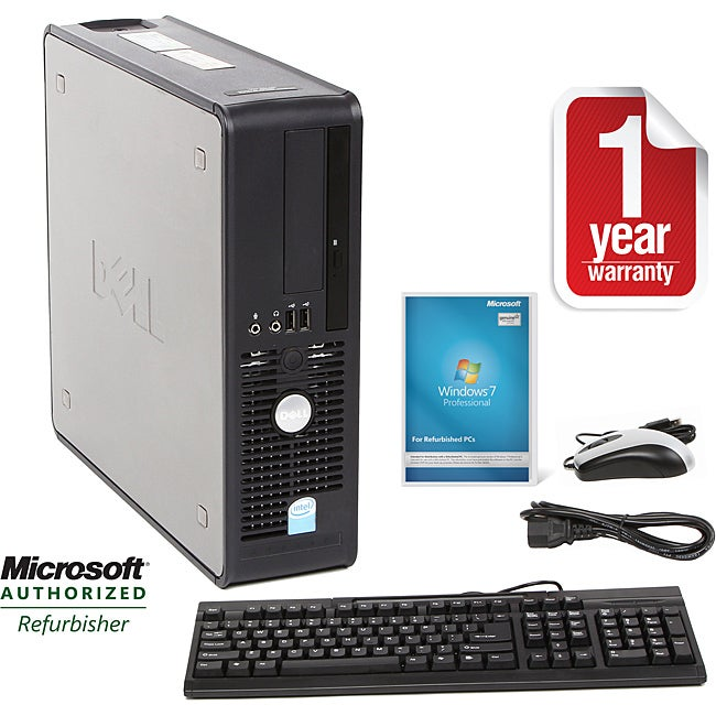 Dell Optiplex 745 Intel Core 2 Duo 1.86GHz CPU 2GB RAM 160GB HDD Windows 10 Pro Small Form Factor Computer (Refurbished) - Thumbnail 0