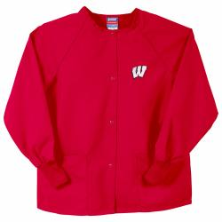 Gelscrubs Unisex Red NCAA Wisconsin Badgers Nurse Jacket