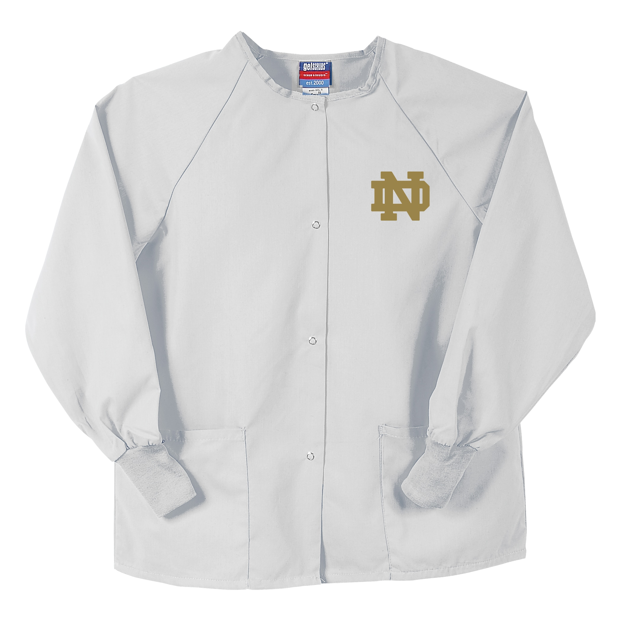 Gelscrubs White Notre Dame Fighting Irish Nurse Jacket - Thumbnail 0