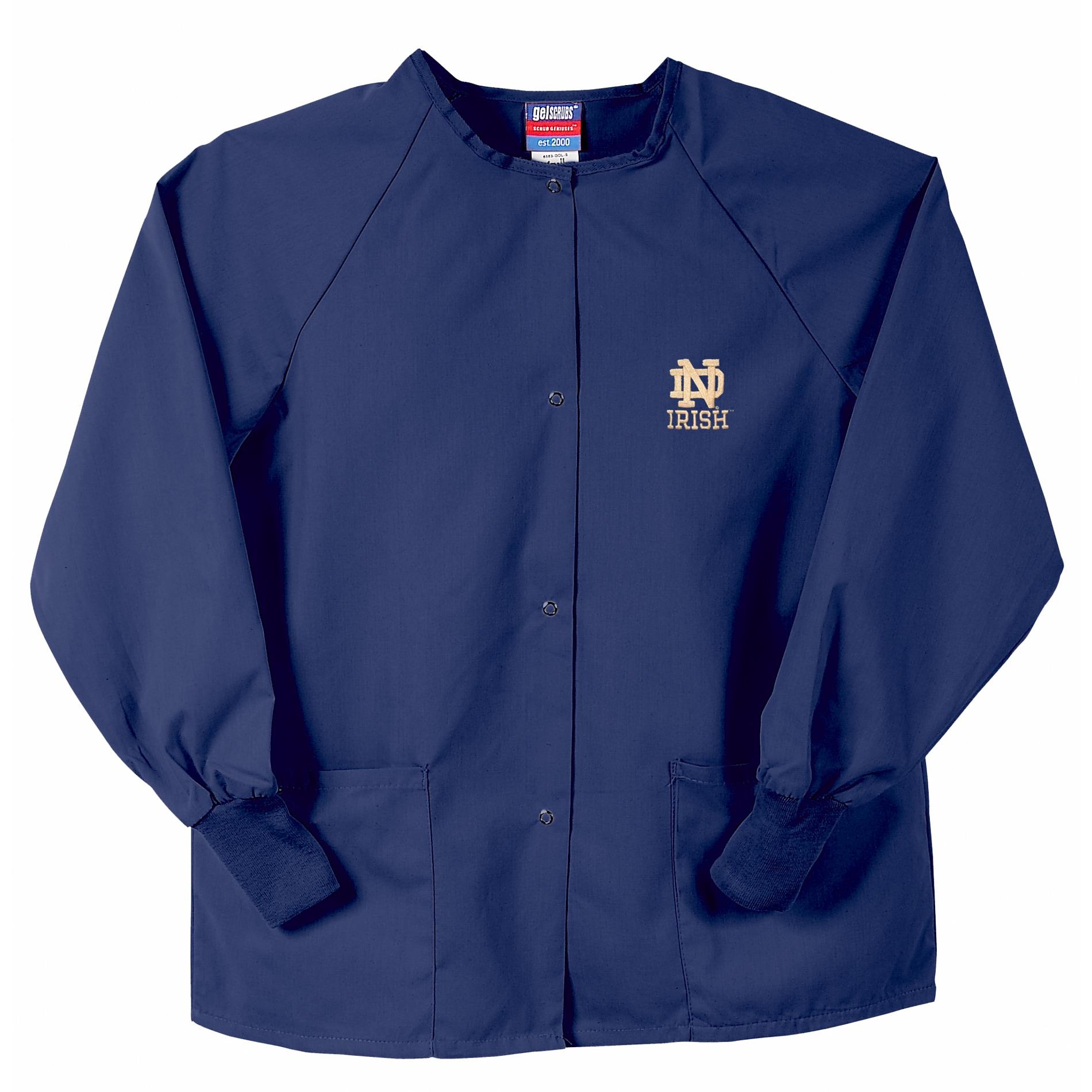 Gelscrubs Navy Notre Dame Fighting Irish Long-Sleeve Nurse Jacket
