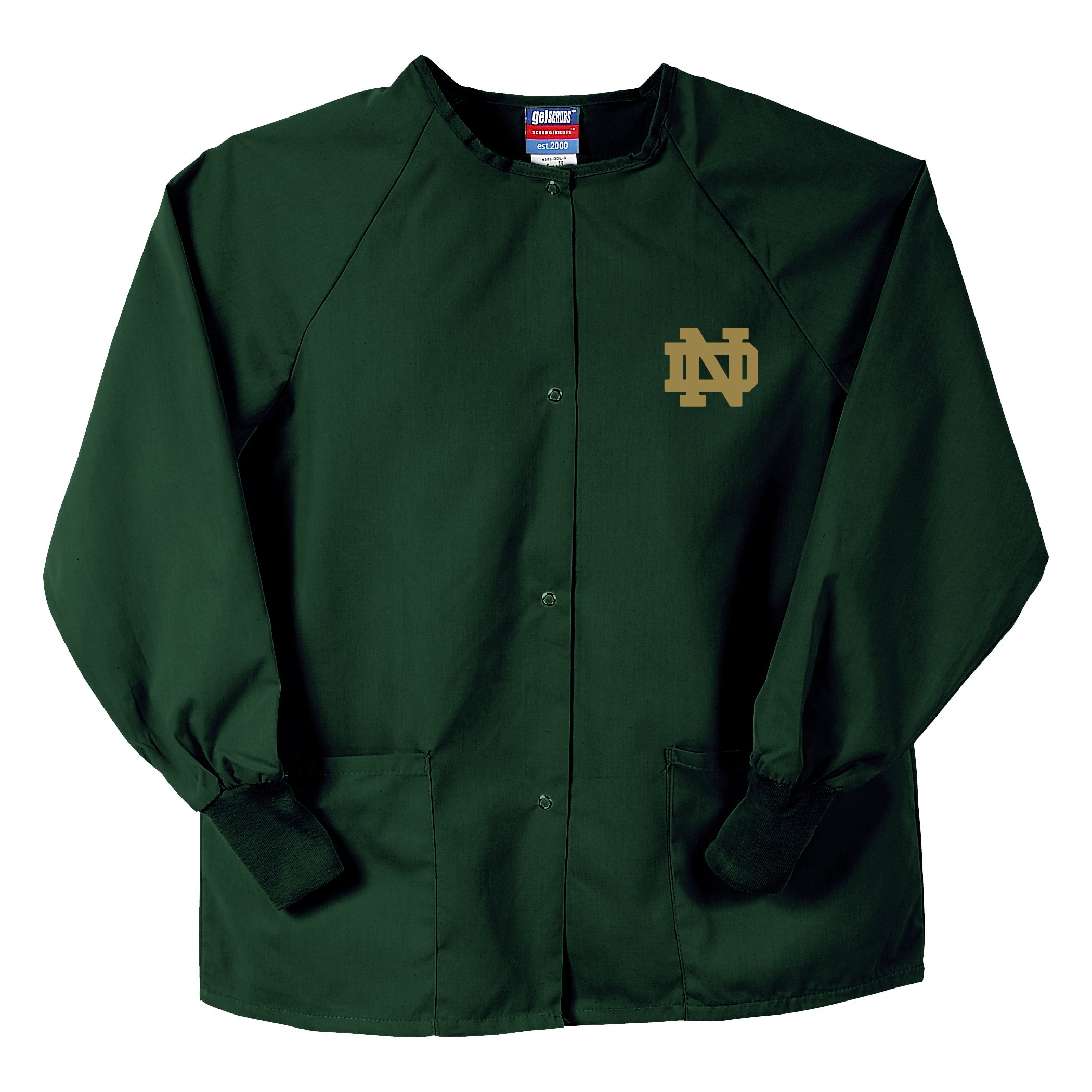 Gelscrubs Hunter Unisex NCAA Notre Dame Fighting Irish Nurse Jacket - Thumbnail 0