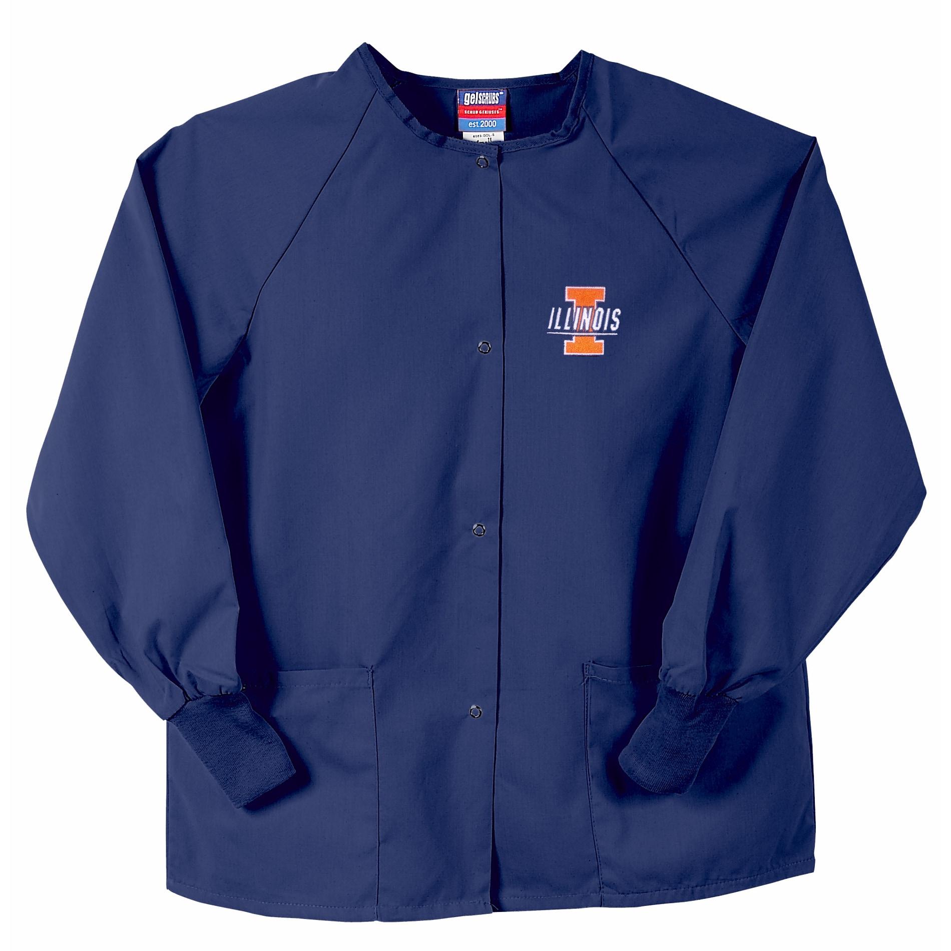 Gelscrubs Unisex NCAA Navy Illinois Illini Nurse Jacket  : Gelscrubs Unisex NCAA Navy Illinois Illini Nurse Jacket L13996407 from www.overstock.com size 1900 x 1900 jpeg 337kB
