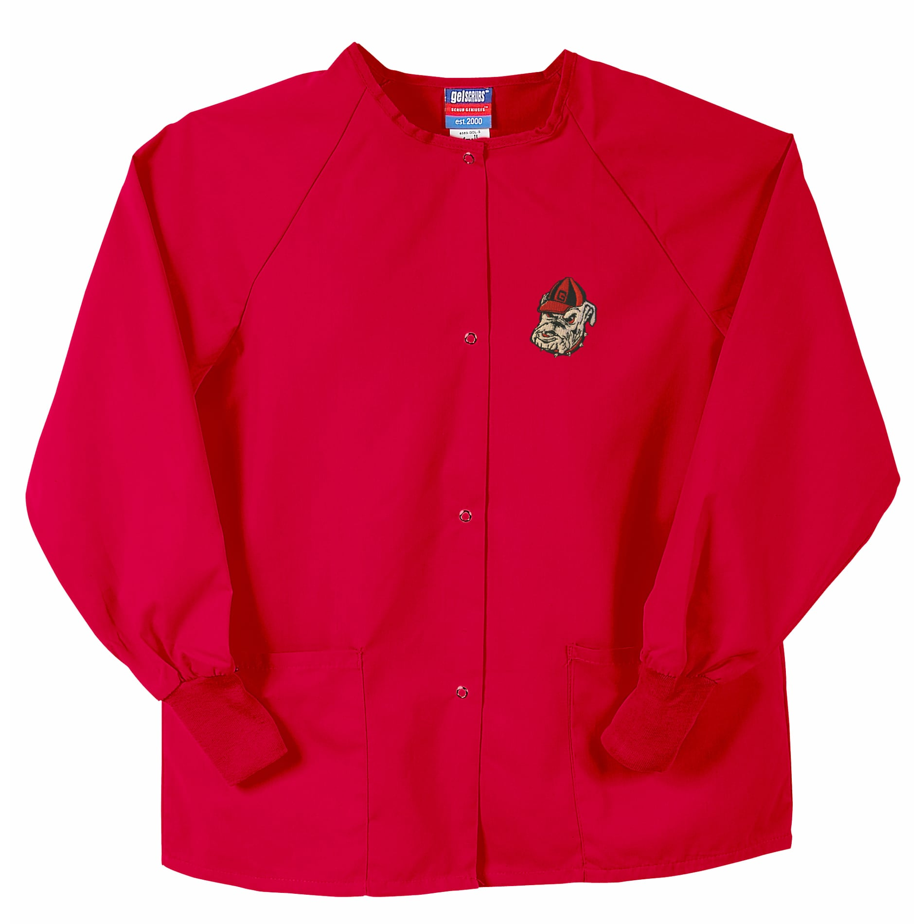 Gelscrubs Unisex Red NCAA Georgia Bulldogs Nurse Jacket