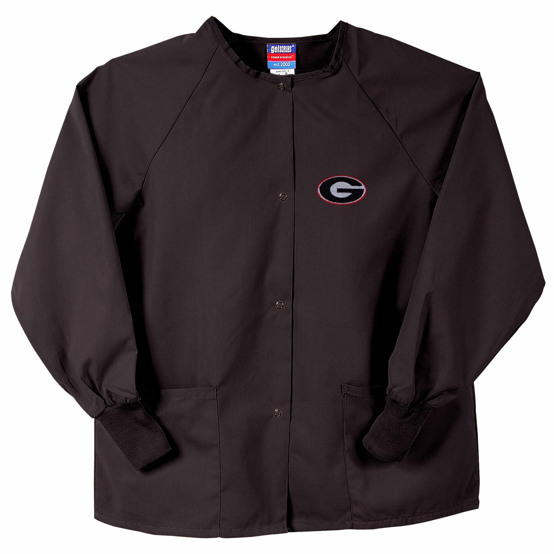 Gelscrubs Unisex Black Georgia Bulldogs Nurse Jacket