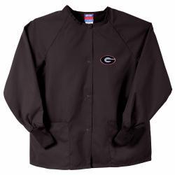 Gelscrubs Unisex Black Georgia Bulldogs Nurse Jacket - Thumbnail 0