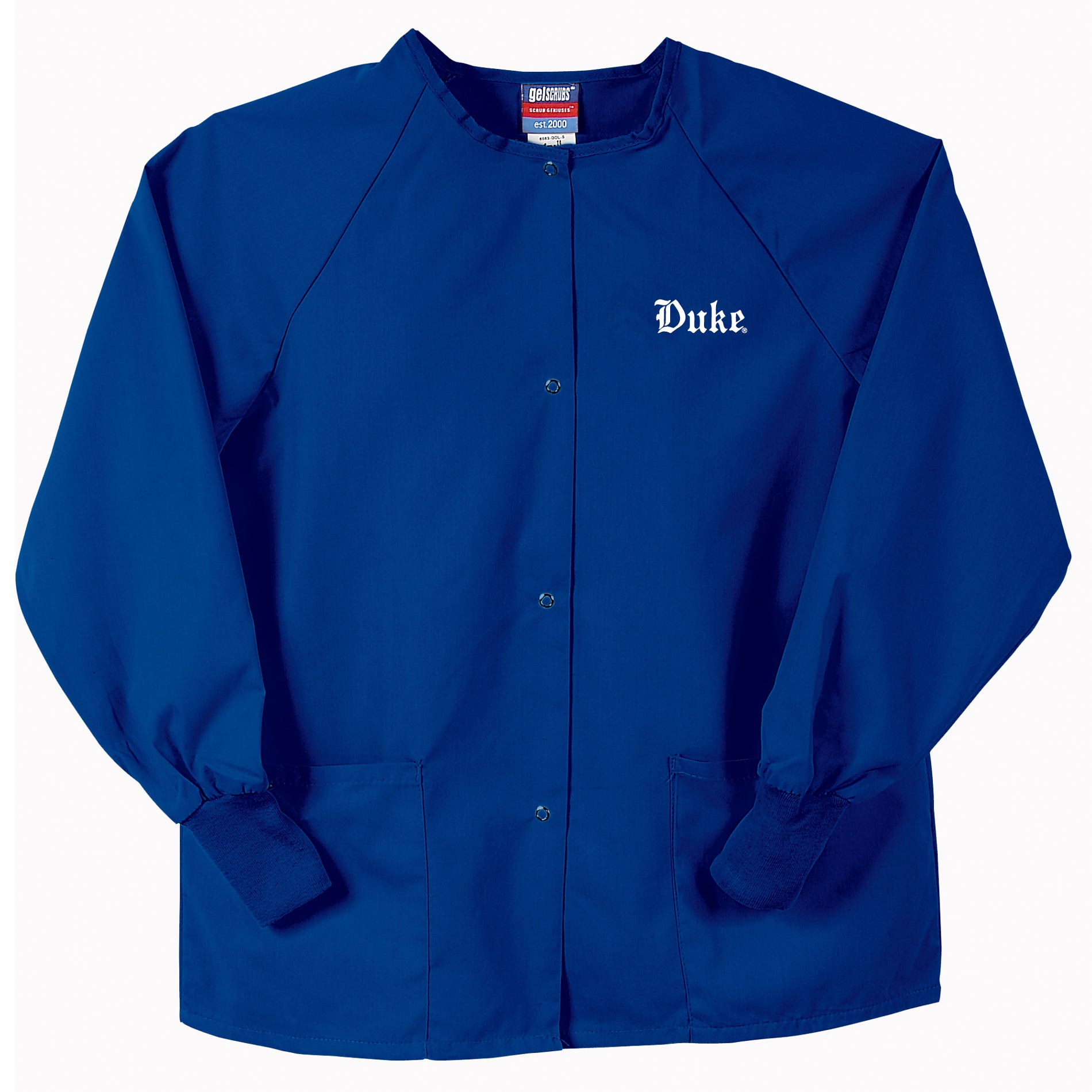 Gelscrubs Unisex Royal Blue NCAA Duke Blue Devils Nurse Jacket