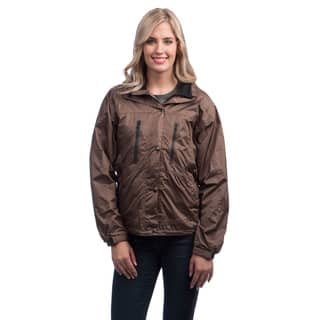 Mossi Ladies RX Taslon Fabric Brown Breathable Rainwear Jacket|https://ak1.ostkcdn.com/images/products/6382292/P13996438.jpg?impolicy=medium
