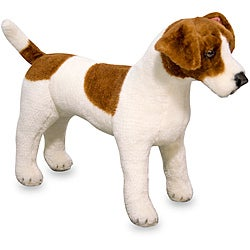 Melissa & Doug Plush Jack Russell Terrier Stuffed Animal - Thumbnail 0