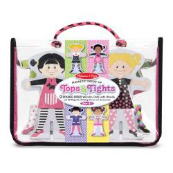 Melissa & Doug Tops and Tights Magnetic Dress-up Play Set - Thumbnail 1