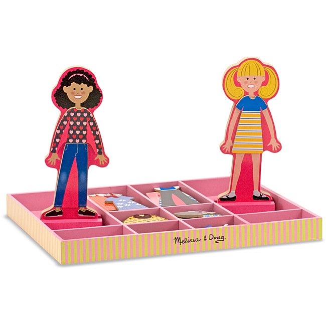 Melissa & Doug Abby and Emma Magnetic Dress-up Play Set