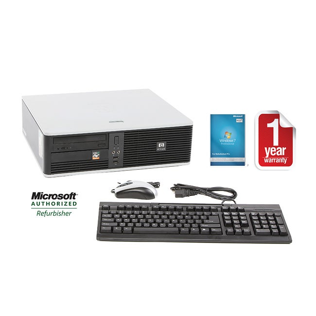 HP Compaq DC5750 AMD A64x2 2.3GHz CPU 2GB RAM 160GB HDD Windows 10 Pro Small Form Factor Computer (Refurbished)