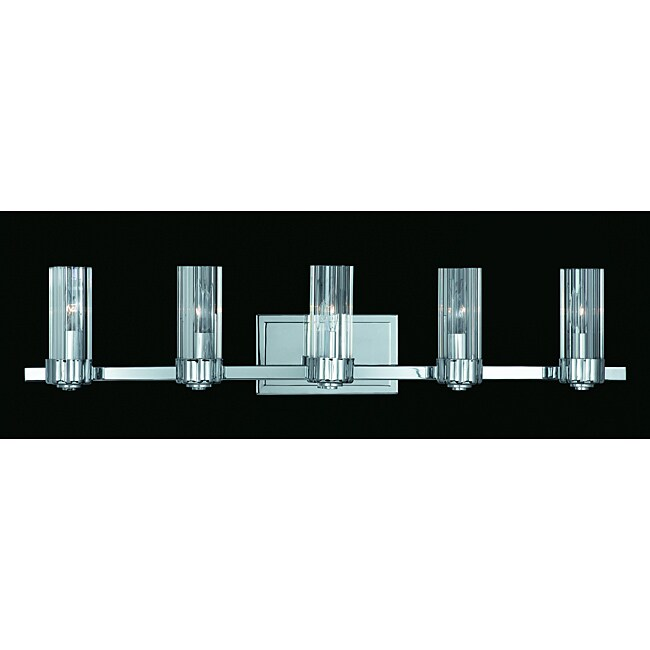 Triarch International Glacier Chrome 5-light Bathroom Fixture