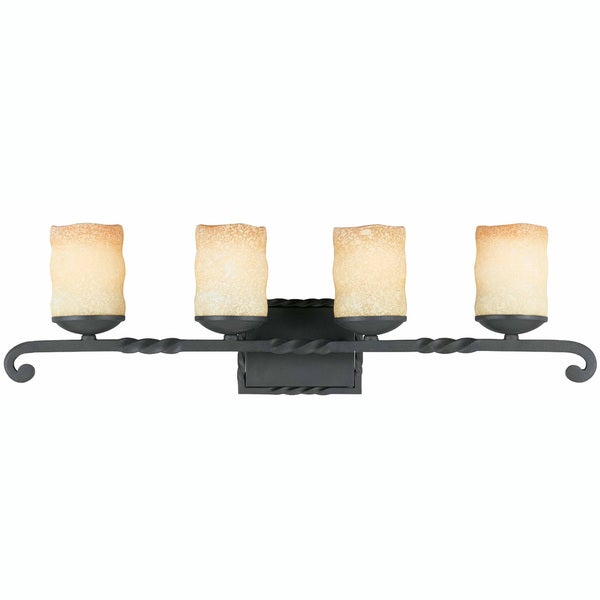 Triarch International Granada  Blacksmith Bronze 4-light Bathroom Fixture