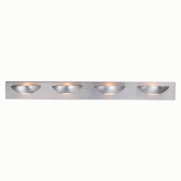 Triarch International Halogen Brushed Steel  4-light Bathroom Fixture