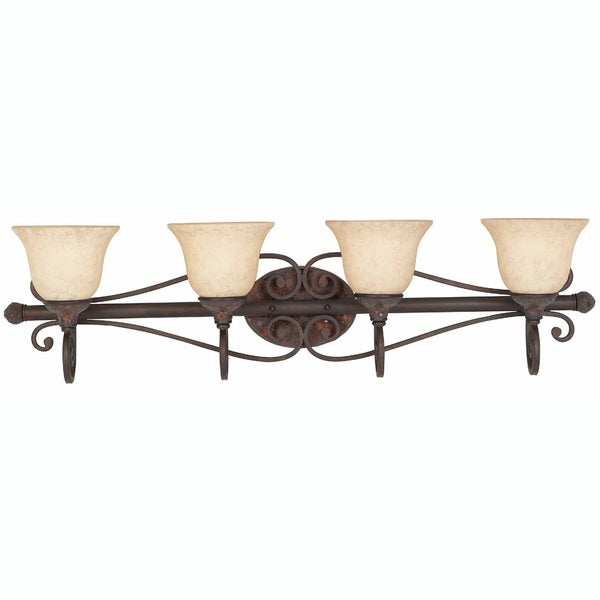 Triarch International Jewelry Harvest Bronze  4-light Bathroom Fixture