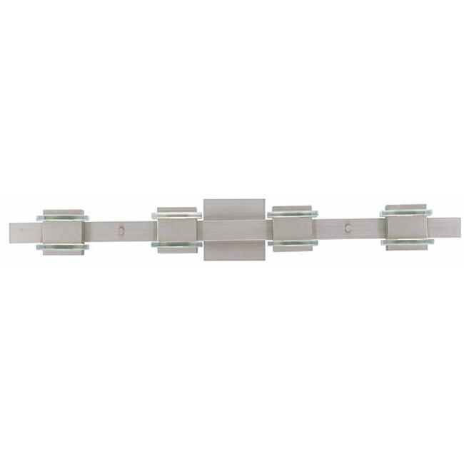 Triarch International Deco Brushed Steel Halogen 4-light  Fixture