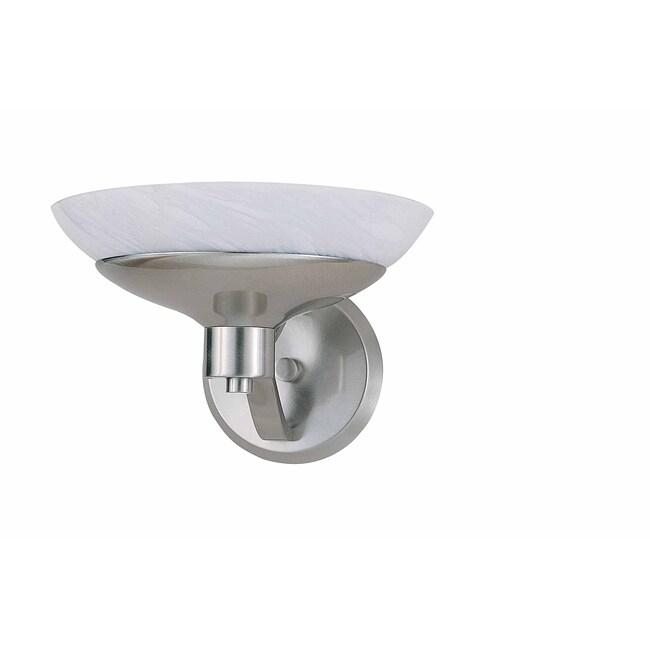 Triarch International Halogen VI Brushed Steel 1-light  Sconce