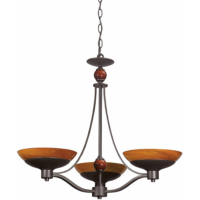 Triarch International Halogen VI 3-light Oil Rubbed Bronze Chandelier