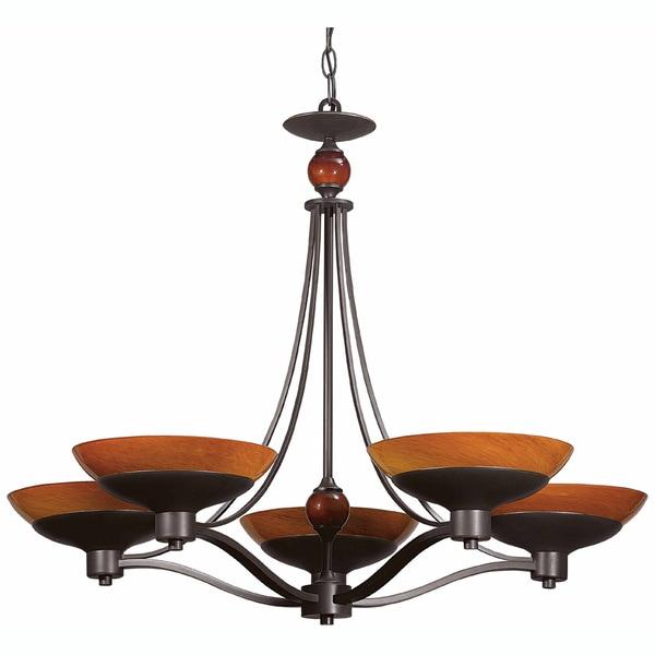 Triarch International Halogen VI 5-light Oil Rubbed Bronze Chandelier