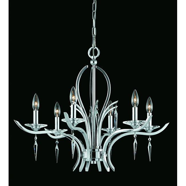 Triarch International Transitional 6-light Chrome Finish Chandelier