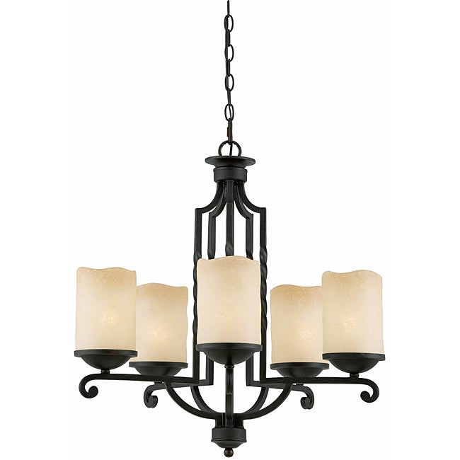 Triarch International 5-light Blacksmith Bronze Granada Pendant Chandelier - Thumbnail 0