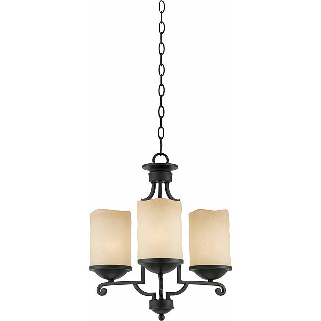 Triarch International 3-light Blacksmith Bronze Granada Chandelier
