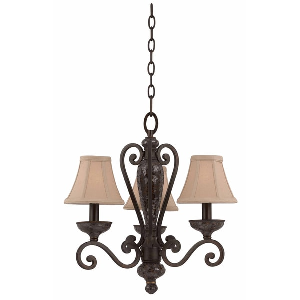 Triarch International Jewelry 3-light Harvest Bronze Mini Chandelier