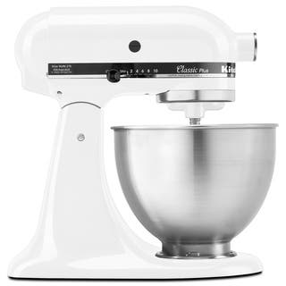 KitchenAid KSM75WH White 4.5-quart Classic Tilt-head Stand Mixer