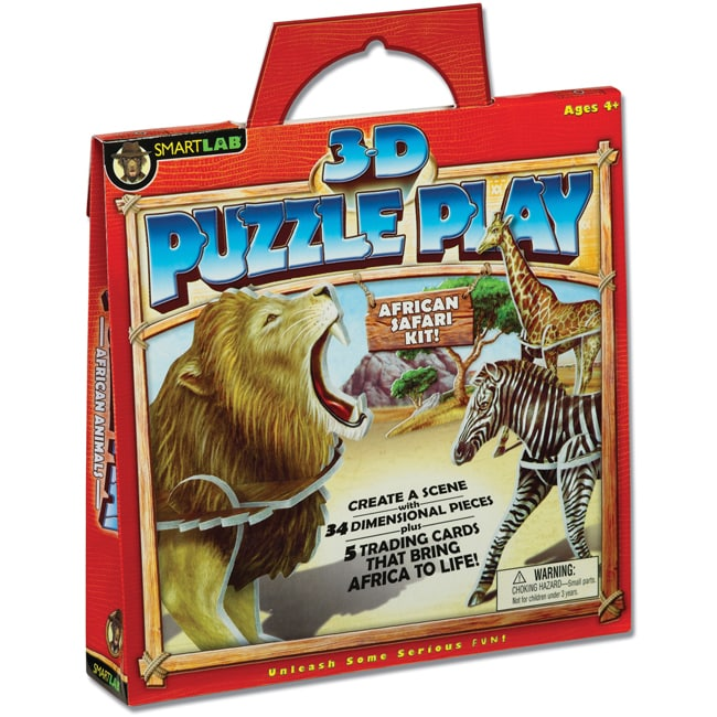 SmartLAB 3-D Play-African Animals Puzzle