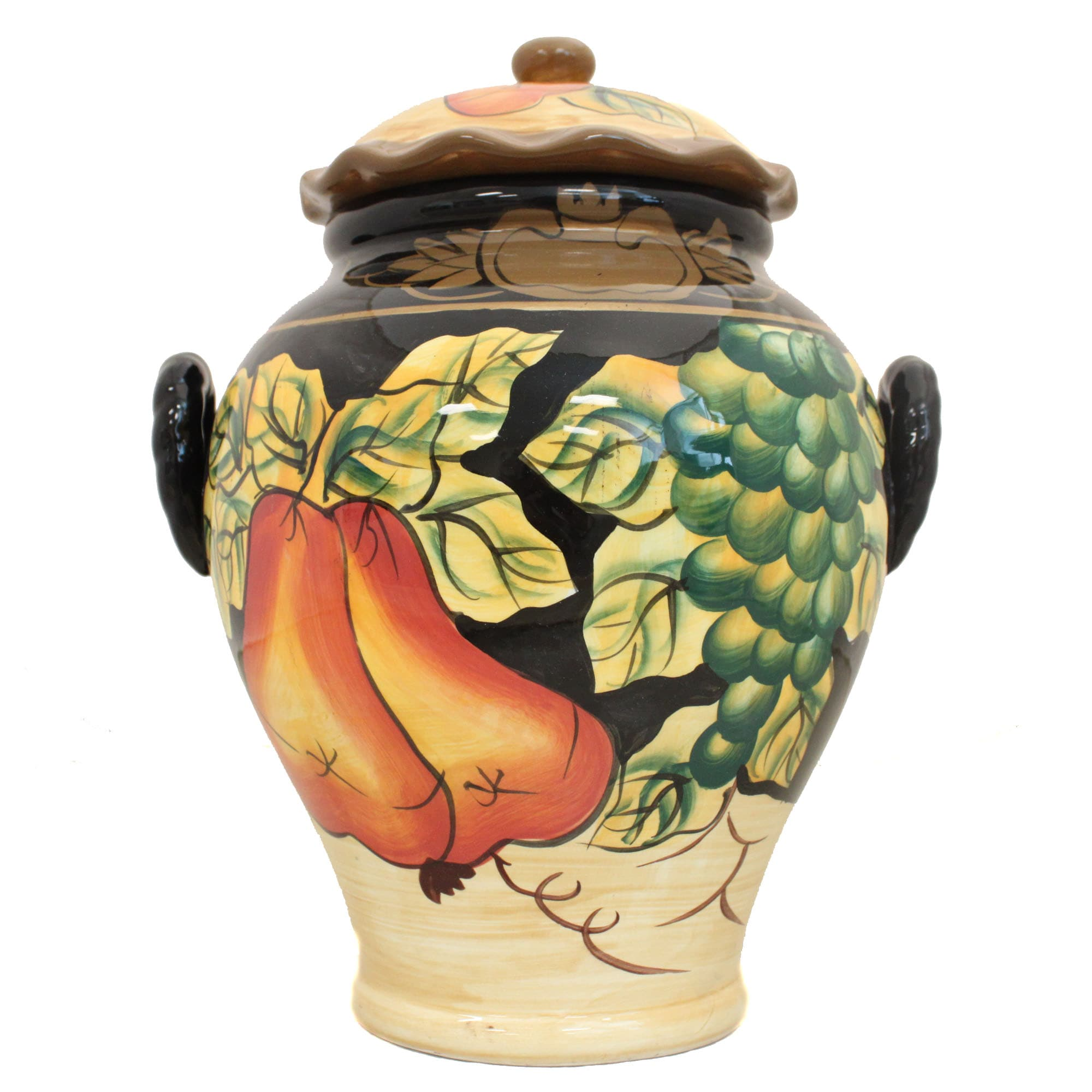 Casa Cortes Barcelona Collection Hand-Painted Cookie Jar - Thumbnail 0
