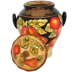 Casa Cortes Barcelona Collection Hand-Painted Cookie Jar - Thumbnail 1