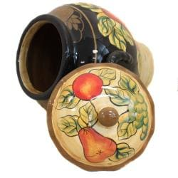 Casa Cortes Barcelona Collection Hand-Painted Cookie Jar - Thumbnail 2