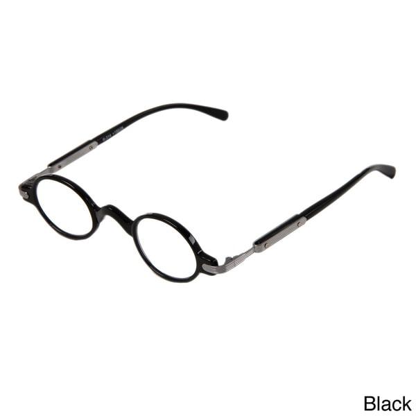 29fbeb523d Shop Hot Optix Unisex Retro Oval Plastic  Metal Reading Glasses ...