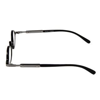 Hot Optix Unisex Retro Oval Plastic/ Metal Reading Glasses