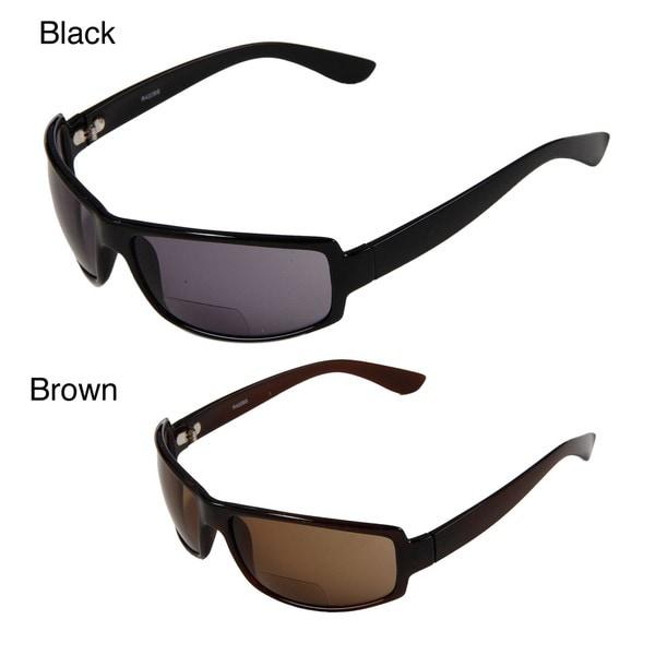 Hot Optix Men's Sport Wrap Plastic Tinted Reading Glasses