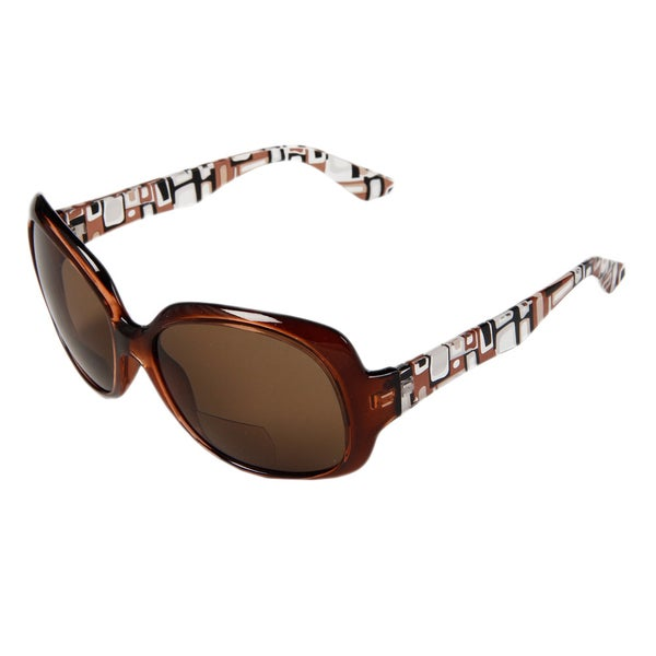 Hot Optix Women's Square Tinted Bi-focal Reading Glasses
