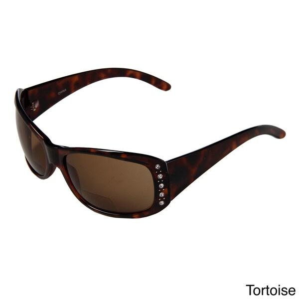 Hot Optix Women's Jeweled Fashion Tinted Bi-focal Reading Glasses