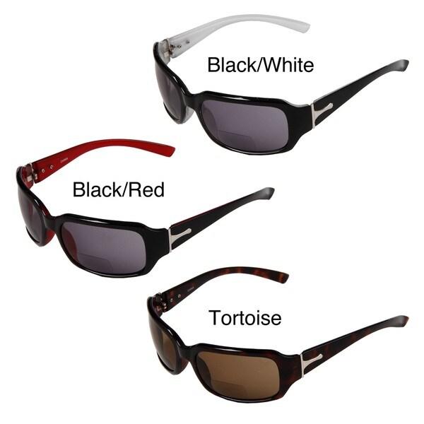 Hot Optix Women's Square Fashion Tinted Bi-focal Reading Glasses