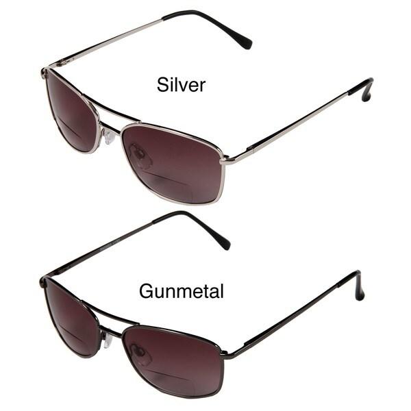 Hot Optix Men's Square Tinted Aviator Reading Glasses