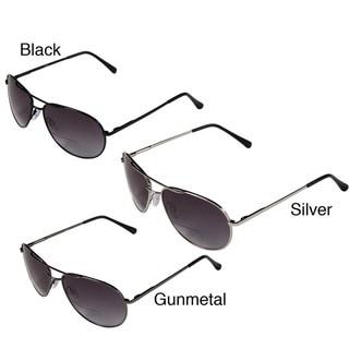 Hot Optix Men's Metal Tinted Aviator Bi-focal Reading Glasses