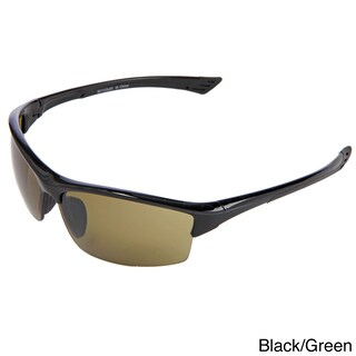 Hot Optix Golf High Contrast Semi Rimless Sport Sunglasses (Option: Black)